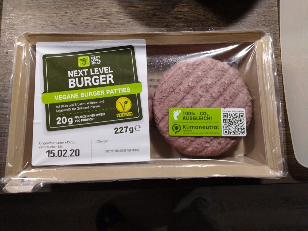 Next Level Burger Verpackung