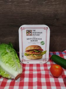 The vegetarian Butcher Sieht Chick aus Burger