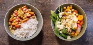 Salat mit Kichererbsen und Curry